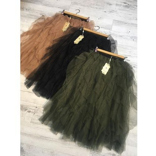 Spódnice, Spódnica Tiulowa - Czarny