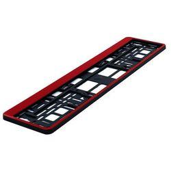 Ramka pod tablicę rejestracyjną HP Czerwona 1 szt - Czerwony