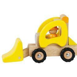 Samochód drewniany - spychacz