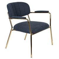 Fotele i krzesła biurowe, Orange Line Fotel JOLIEN złoty/ciemno niebieski 3100112