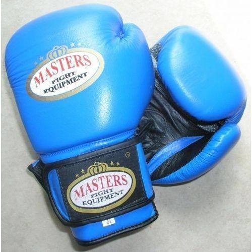 Rękawice do walki, Rękawice bokserskie Masters RBT-301 - niebiesko-czarny