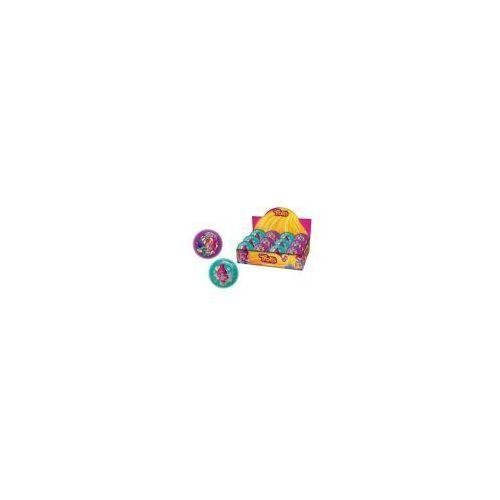 Piłki dla dzieci, Piłka z brokatem Trolls - 70 mm