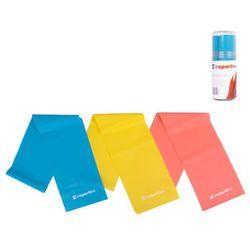 Zestaw gum fitness 3szt inSPORTline Lateks Aerobik