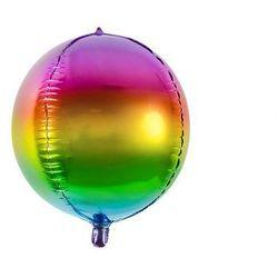 Balon foliowy kula tęczowa ombre - 40 cm - 1 szt.