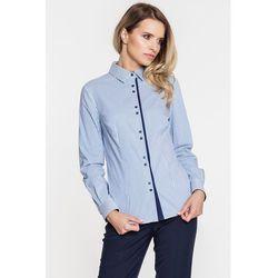 Biała koszula w niebieskie paski - Duet Woman