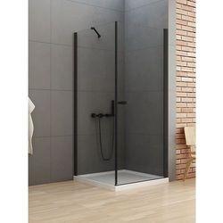 New Trendy New Soleo Black kabina prostokątna drzwi 80 x 70 cm wspornik równoległy wys. 195 cm, szkło czyste 6 mm D-0230A/D-0113B-WP
