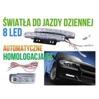 Lampy przednie, Profesjonalne Halogeny LED do Jazdy Dziennej, 2x8 LED.