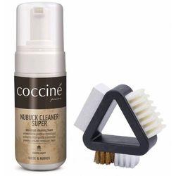 Zestaw do czyszczenia zamszu i nubuku pianka + szczotka 3w1 coccine