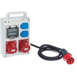Rozdzielnica elektryczna bez wyposażenia RS 1 / 4 6213 - 10 / 2 X 2P + Z 2 X 3P + N + Z 16 / 32 ELEKTRO-PLAST
