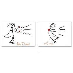 Naklejki na buty Power of love - 2 szt.