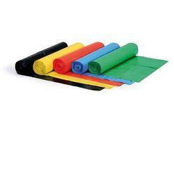 Worek na śmieci 240 litrów, 1000 x 1200 mm, LDPE, 80 mikronów, żółty