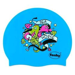 Fashy czepek silikon junior z nadrukiem 3047 niebieski