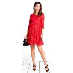 ubrania ciążowe Sukienka ciążowa Natalie REd Piękny Brzuszek
