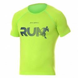 Koszulka męska Brubeck Running Air Pro SS13280 Neonowy