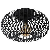 Lampy sufitowe, Lucide 78174/40/30 - Oświetlenie sufitowe MANUELA 1xE27/60W/230V czarny