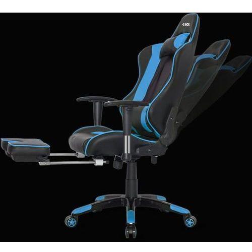 Fotele dla graczy, FOTEL I-BOX AURORA GT1 GAMING CZARNO/NIEBIESKI GT1CZARNY/NIEBI - odbiór w 2000 punktach - Salony, Paczkomaty, Stacje Orlen