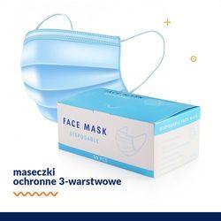 Maski Maseczki Ochronne Chirurgiczne 3-warstwowe 50 sztuk