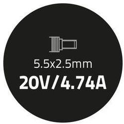 Qoltec Zasilacz do IBM Lenovo 90W | 20V | 4.74A | 5.5*2.5