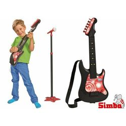 Simba Zabawkowa Gitara elektryczna z mikrofonem i wzmacniaczem 683-3223