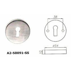 Szyld okrągły A2 na klucz ze stali nierdzewnej