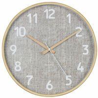 Zegary, Zegar ścienny CANVAS śr. 30 cm beżowy