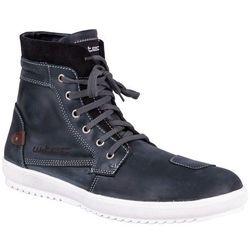 Buty motocyklowe skórzane W-TEC Sneaker 377, Ciemnoniebieski, 41