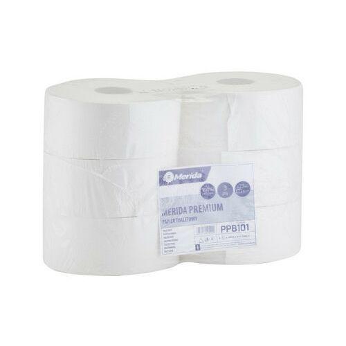 Papier toaletowy, Papier toaletowy Merida Premium, 3 warstwy, celuloza 6 rolek