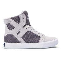 Damskie obuwie sportowe, buty SUPRA - Skytop Grey Violet Twotone - White (031) rozmiar: 37.5