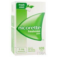 Gumy nikotynowe, Nicorette Freshmint Gum, gumy do żucia, 2 mg, 105 szt