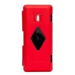 Szafka na gaśnice 4 kg i 6 kg PCV czerwona - z okienkiem