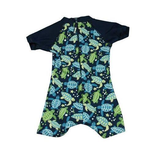 Stroje kąpielowe dla dzieci, Strój kąpielowy kombinezon dzieci 68cm filtr UV50+ - Petrol Jungle \ 068cm