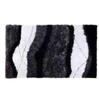 Dywany, Dywan shaggy ECUME - poliestrowy, tuftowany ręcznie - Biało-czarny - 160 * 230 cm
