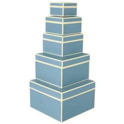 Pudełka prezentowe Die Kante 5 szt. błękitne