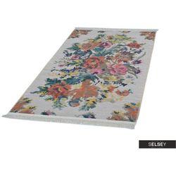 SELSEY Dywan klasyczny Pikselowa flora jasny 75x300 cm