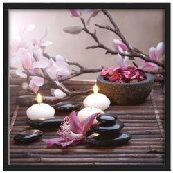 Obraz 30 x 30 cm Kamienie i świeczki
