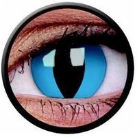 Soczewki kontaktowe, Soczewki kolorowe niebieskie CHESHIRE CAT Crazy Lens 2 szt.