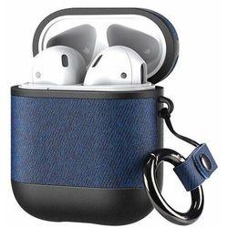 Dux Ducis etui na słuchawki Apple AirPods 2 / AirPods 1 z ekologicznej skóry niebieski - Niebieski
