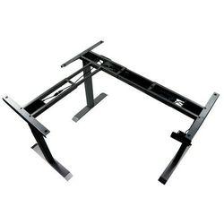 Trzysilnikowy kątowy stelaż metalowy biurka (stołu) z elektryczną regulacją wysokości, elektryczny, UT04-3T/90A/B, kolor czarny - noga 3-segmentowa