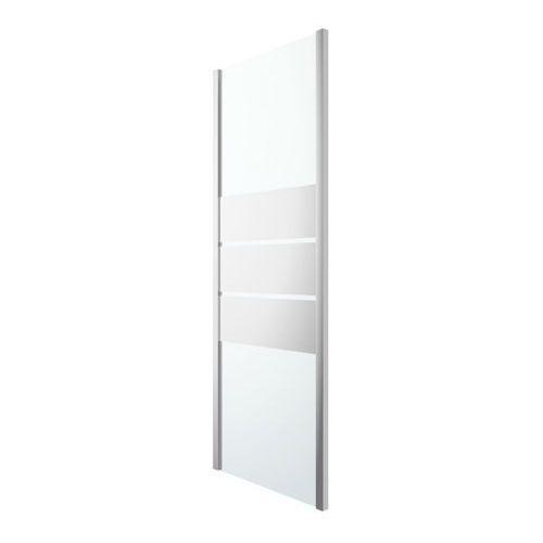 Ścianki prysznicowe, Ścianka prysznicowa GoodHome Beloya 80 cm chrom/szkło lustrzane
