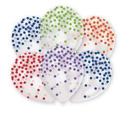 Balony przezroczyste z nadrukiem w kropki - 27,5 cm - 6 szt.