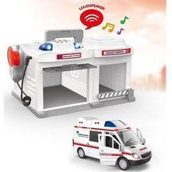 Parking dla ambulansu ze światłem i dźwiękiem