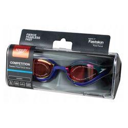 speedo Fastskin Pure Focus Mirror Okulary pływackie, black/cool grey/blue/gold 2019 Okulary do pływania