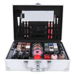 2K All About Beauty Train Case zestaw Complete Makeup Palette dla kobiet