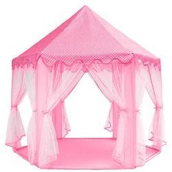 Namiot pałac dla dzieci do zabaw różowy