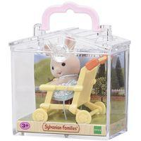 Pozostałe zabawki, Sylvanian Families Przenośny zestaw dla dziecka (królik w wózku spacerowym)