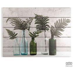Obraz na drewnie Botaniczne butelki 104587