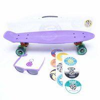 Pozostały skating, cruiser STEREO - Vinyl Plastic Cruiser Purp/Orgn/Trans Grn (PURP ORGN TRANS GRN) rozmiar: OS