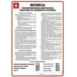 Instrukcja przeciwpożarowego zabezpieczenia magazynów nie zagrożonych wybuchem