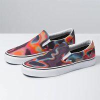 Damskie obuwie sportowe, buty VANS - Classic Slip-On (Dark Aura) Multi/Tr Wht (WN0) rozmiar: 41