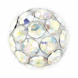 Kolczyki 7522-0315 kulka z kryształkami górskimi